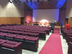 The Auditorium. I can't lie, I was very nervous as I walked in & saw the room