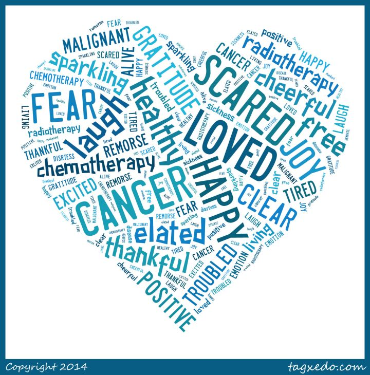 The Many Emotions of Cancer Word Cloud