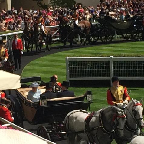 The Royal procession arriving