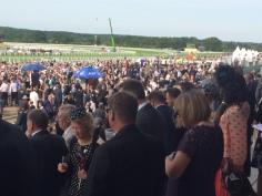Spectators just before a race